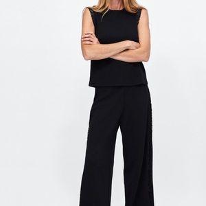 NWT Zara Lace Top + Pants Set